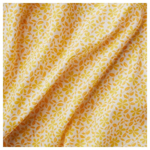 ДОРТЕА Гардины, 1 пара, белый/желтый 145x300 см - Артикул: 604.279.43
