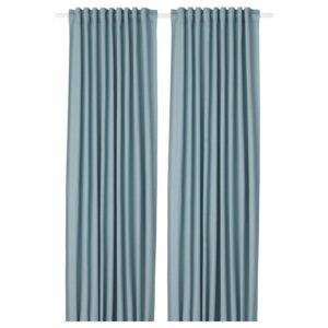 ТИБАСТ Гардины, 1 пара, синий 145x300 см - Артикул: 104.274.22