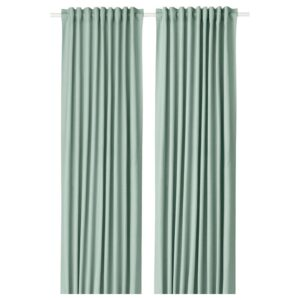 ТИБАСТ Гардины, 1 пара, зеленый 145x300 см - Артикул: 604.280.18