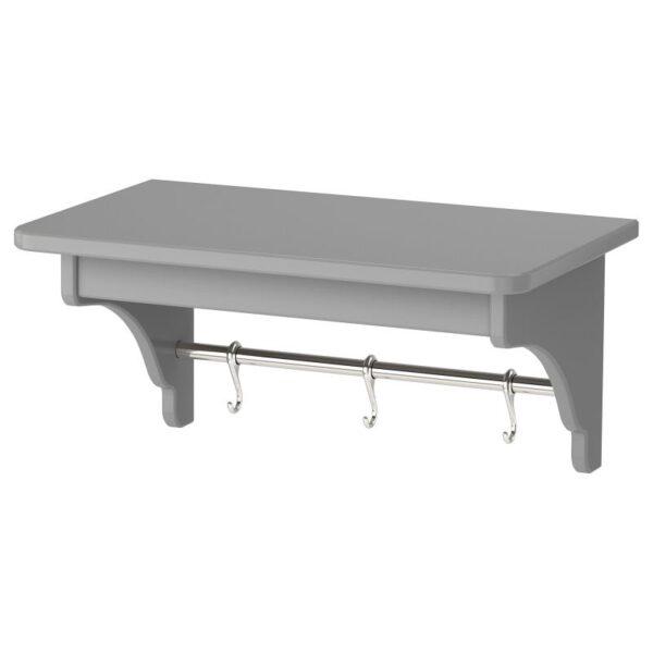 ТОРНВИКЕН Полка навесная серый 50 см - Артикул: 004.022.57