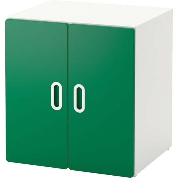 СТУВА / ФРИТИДС Шкаф белый/зеленый 60x50x64 см - Артикул: 992.794.99