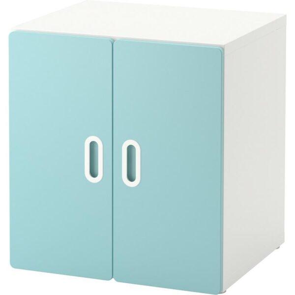 СТУВА / ФРИТИДС Шкаф белый/голубой 60x50x64 см - Артикул: 892.794.85