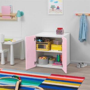 СТУВА / ФРИТИДС Шкаф белый/светло-розовый 60x50x64 см - Артикул: 592.794.96