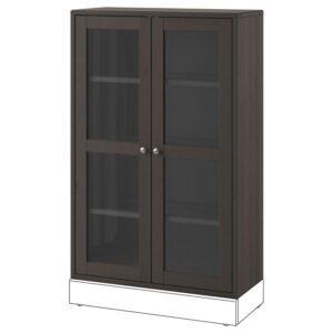 ХАВСТА Шкаф-витрина темно-коричневый 81x123x35 см - Артикул: 903.910.61
