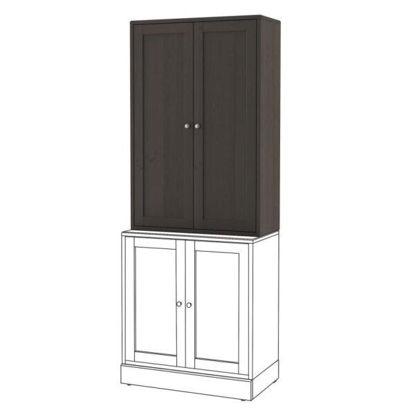 ХАВСТА Шкаф темно-коричневый 81x123x35 см - Артикул: 403.910.49
