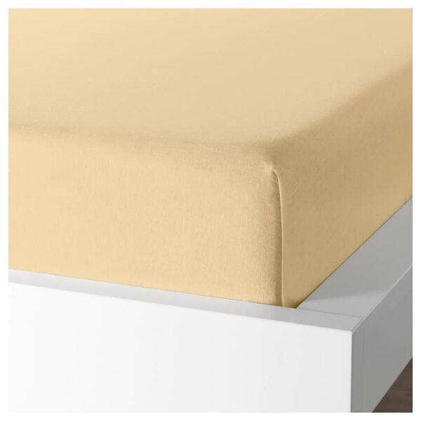 ПУДЕРВИВА Простыня, светло-желтый 240x260 см - Артикул: 904.335.94