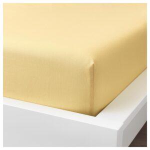 ПУДЕРВИВА Простыня натяжная, светло-желтый 140x200 см - Артикул: 504.335.72