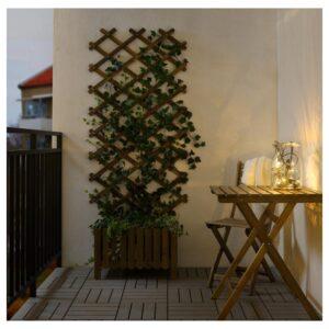 УТСУНД Гирлянда, 12 светодиодов, для сада/с батарейным питанием черный - Артикул: 104.211.37