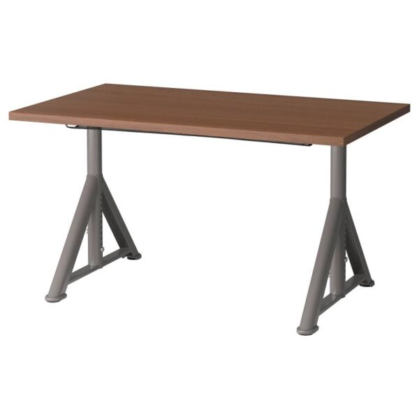ИДОСЕН Письменный стол, коричневый/темно-серый 120x70 см - Артикул: 092.810.29