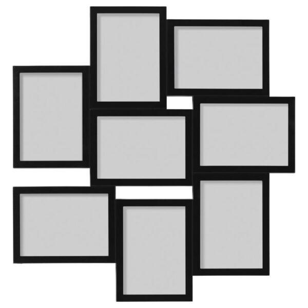 ВЭКСБУ Рама для коллажа на 8 фото черный 13x18 см - Артикул: 904.288.61