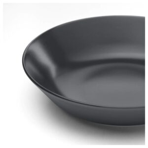 ДИНЕРА Тарелка глубокая, темно-серый 22 см - Артикул: 804.239.82