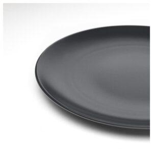 ДИНЕРА Тарелка, темно-серый 26 см - Артикул: 104.239.85