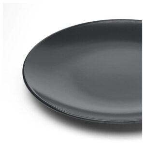 ДИНЕРА Тарелка десертная, темно-серый 20 см - Артикул: 804.239.96