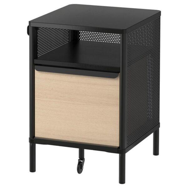 БЕКАНТ Модуль для хранения, на ножках сетка черный 41x61 см - Артикул: 192.824.10