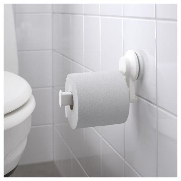 ТИСКЕН Держатель туалетн бумаги н/присоске, белый - Артикул: 003.812.93