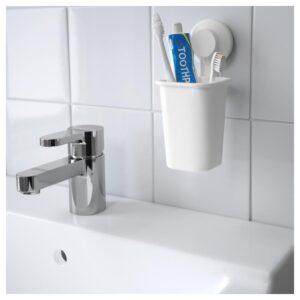 ТИСКЕН Держатель для зубных щеток, белый - Артикул: 704.012.21