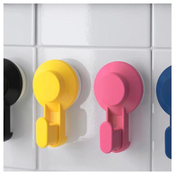 ТИСКЕН Крючок с присоской, разные цвета - Артикул: 304.003.94