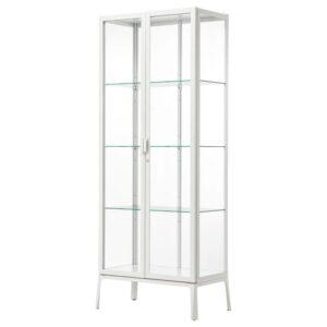 МИЛЬСБУ Шкаф-витрина белый 73x175 см - Артикул: 903.964.26