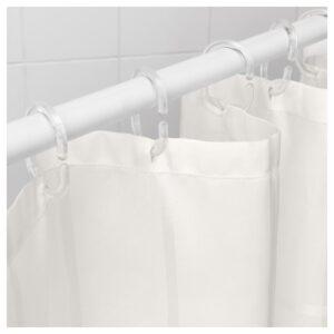 КЛОККАРЕН Штора для ванной, белый с оттенком 180x200 см - Артикул: 404.296.36