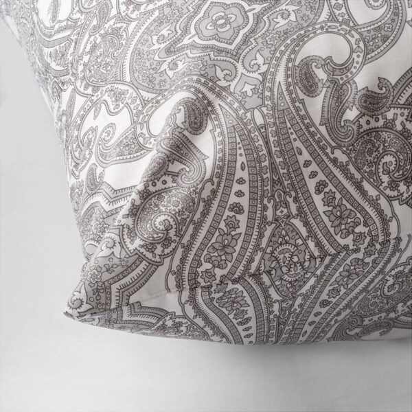 ЙЭТТЕВАЛЛМО Наволочка, белый/серый 70x70 см. Артикул: 404.342.61