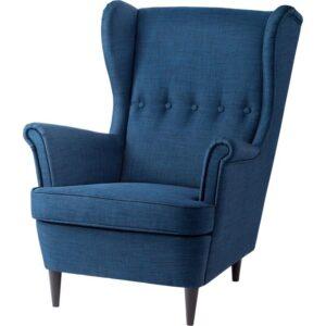 СТРАНДМОН Кресло с подголовником Шифтебу темно-синий - Артикул: 504.198.87