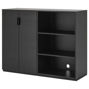 ГАЛАНТ Комбинация д/хранения, ясеневый шпон/черная морилка 160x120 см - Артикул: 492.857.99