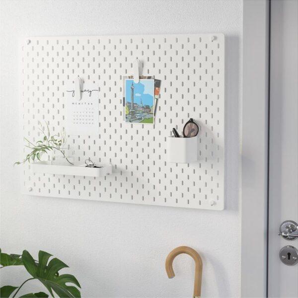 СКОДИС Настенная панель, комбинация белый 76x56 см - Артикул: 892.846.70