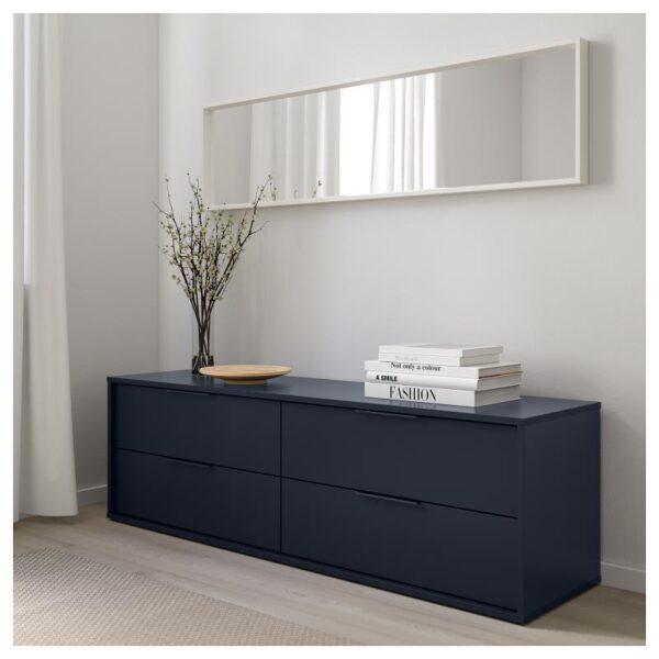 НОРДМЕЛА Комод с 4 ящиками черно-синий 160x50 см - Артикул: 904.216.66
