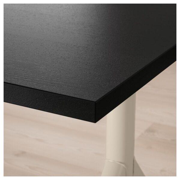ИДОСЕН Письменный стол, черный/бежевый 120x70 см - Артикул: 392.810.23