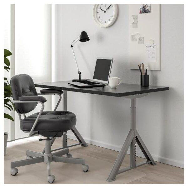 ИДОСЕН Письменный стол, черный/темно-серый 120x70 см - Артикул: 692.810.26