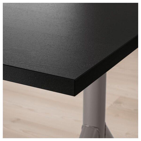 ИДОСЕН Письменный стол, черный/темно-серый 160x80 см - Артикул: 192.810.38