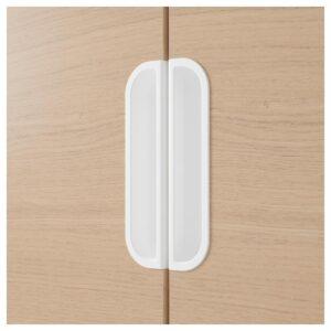 ГАЛАНТ Шкаф с дверями дубовый шпон, беленый 80x120 см - Артикул: 703.682.31
