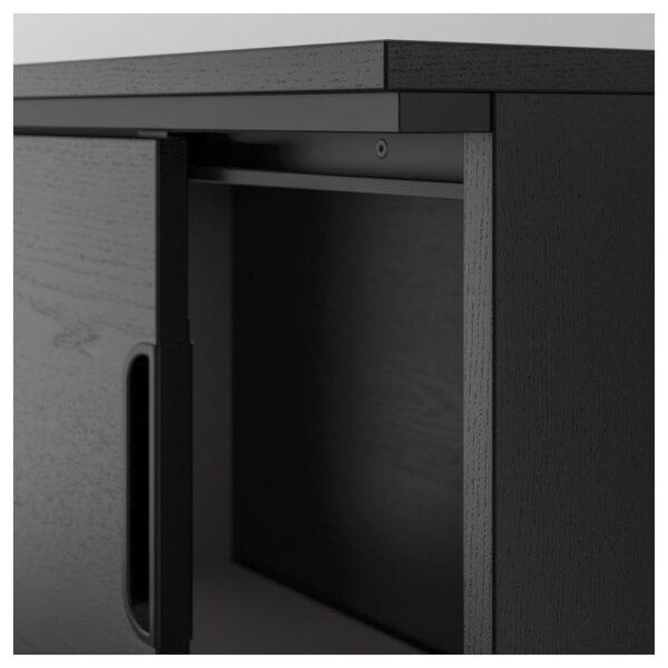 ГАЛАНТ Шкаф с раздвижными дверцами ясеневый шпон/черная морилка 160x120 см - Артикул: 803.651.47