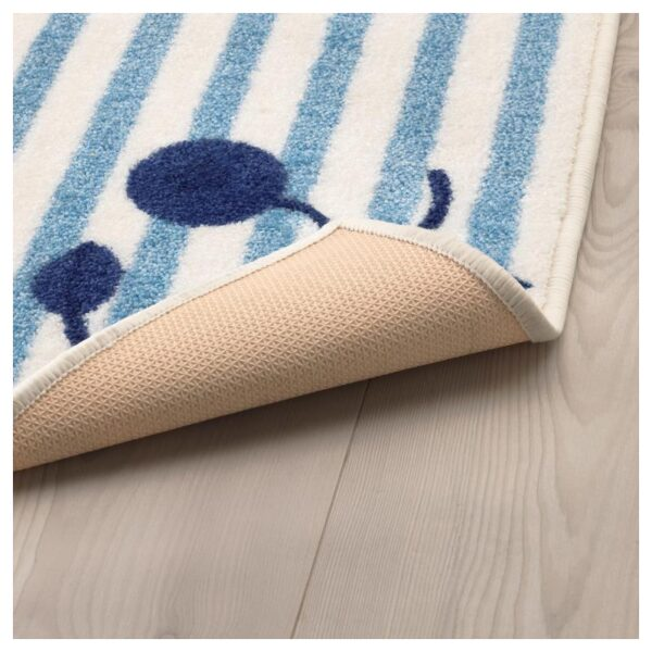 ГУЛСПАРВ Ковер, в полоску синий/белый 133x160 см - Артикул: 104.271.01