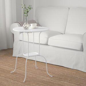 ЛИНДВЕД Придиванный столик, белый 50x68 см - Артикул: 604.338.97
