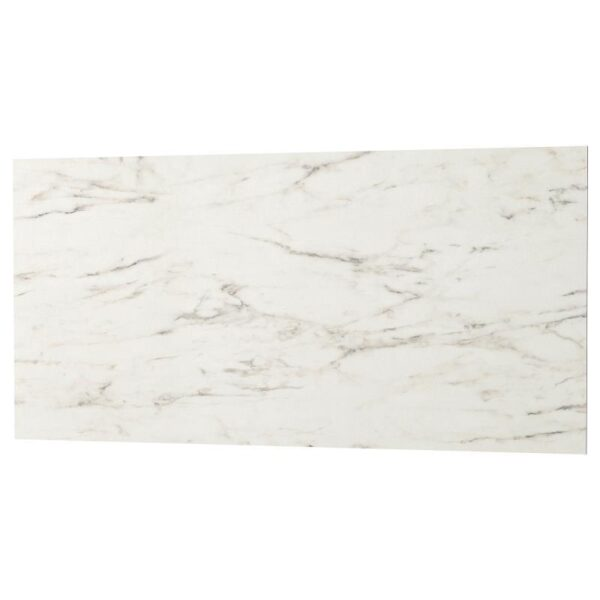 ЛИЗЕКИЛЬ Настенная панель, двусторонний под белый мрамор/с рисунком 120x55 см - Артикул: 503.971.64