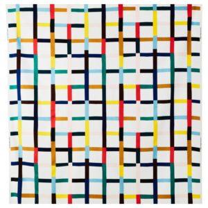 СИГРУНН Ткань, белый/разноцветный 150 см - Артикул: 604.262.41
