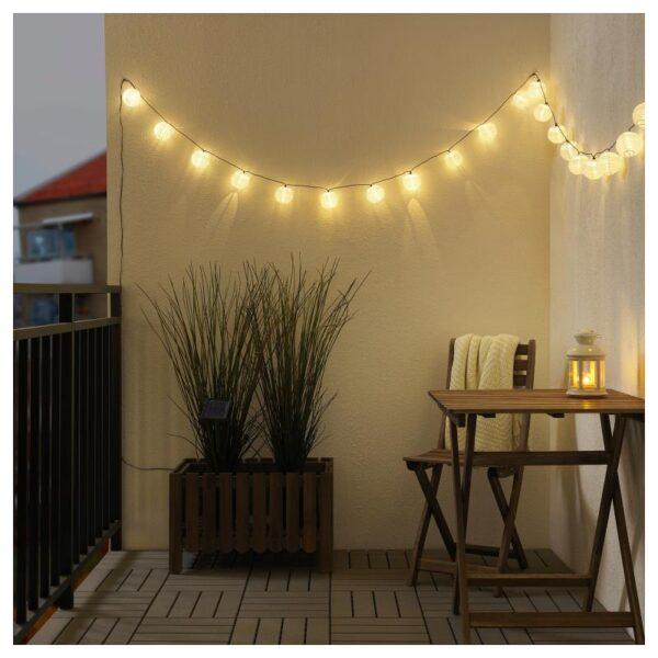 СОЛАРВЕТ Гирлянда, 24 светодиода, для сада на солнечной батарее/шар белый - Артикул: 204.214.10