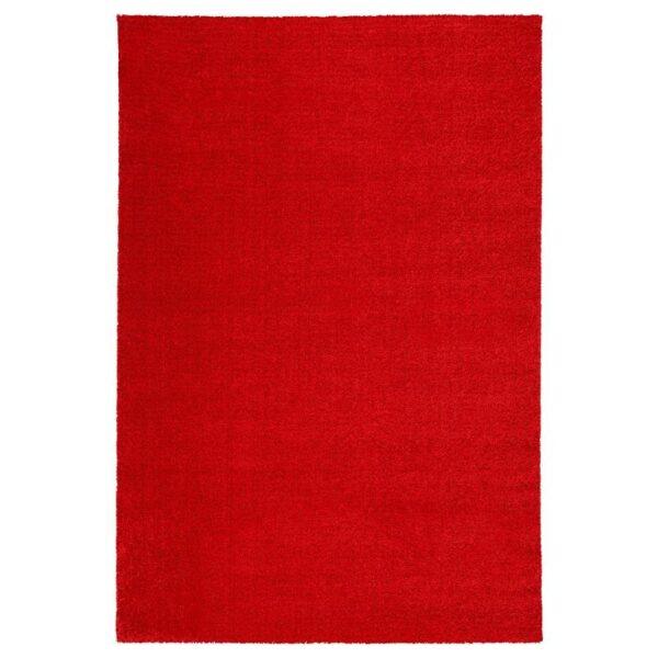 ЛАНГСТЕД Ковер, короткий ворс, красный 133x195 см - Артикул: 704.080.53