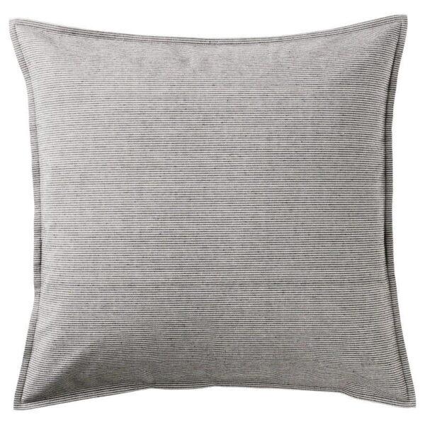 КРИСТИАННЕ Чехол на подушку, белый/темно-серый в полоску 50x50 см - Артикул: 904.326.60