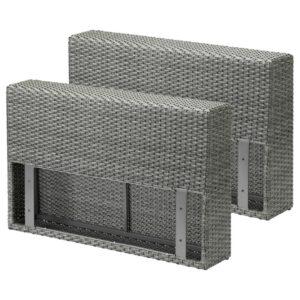 СОЛЛЕРОН Подлокотник для садовой мебели, темно-серый - Артикул: 004.245.89