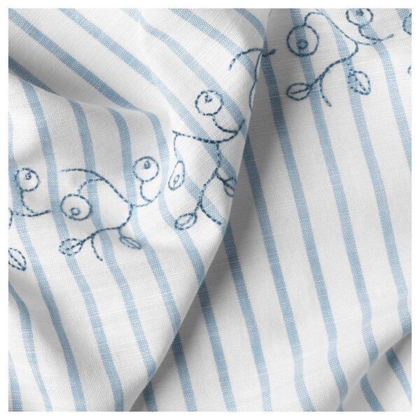 ГУЛСПАРВ Гардины с прихватом, 1 пара, в полоску синий/белый 120x300 см - Артикул: 904.270.98