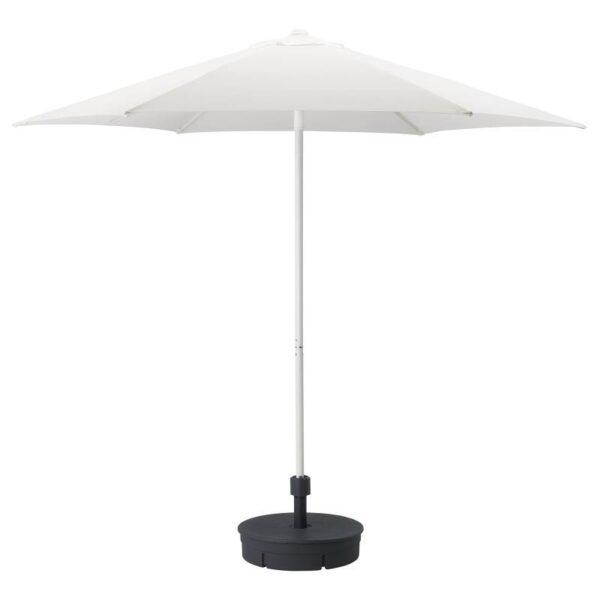 ХЁГЁН Зонт от солнца с опорой, белый/Гритэ темно-серый 270 см - Артикул: 792.858.25