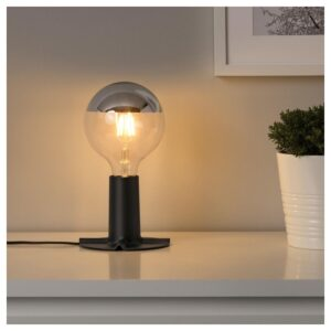 СКАЛЛЬРАН Основание настольной лампы, темно-серый/металл - Артикул: 304.215.32