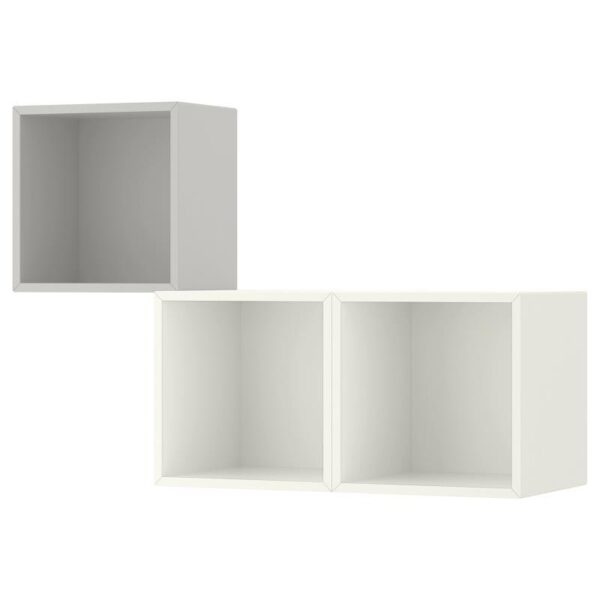 ЭКЕТ Комбинация настенных шкафов светло-серый/белый 105x35x70 см - Артикул: 192.863.33