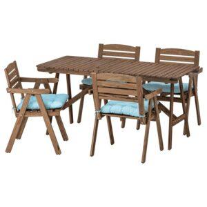 ФАЛЬХОЛЬМЕН Стол+4 кресла, д/сада - Артикул: 792.867.78
