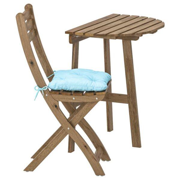 АСКХОЛЬМЕН Стол+1 складной стул, д/сада - Артикул: 192.861.68