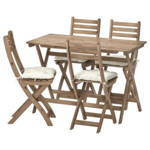 АСКХОЛЬМЕН Стол+4 складных стула, д/сада - Артикул: 392.861.86