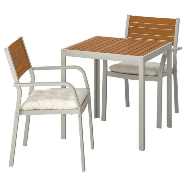 ШЭЛЛАНД Садовый стол и 2 легких кресла - Артикул: 992.869.18