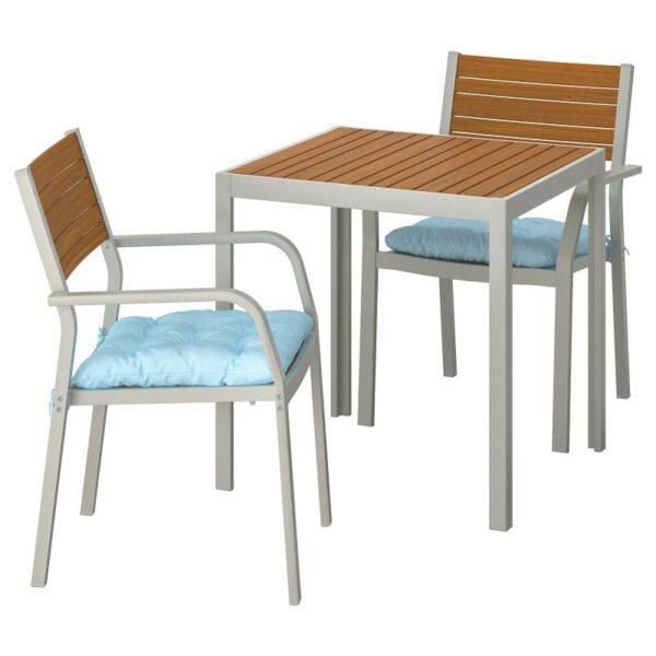 ШЭЛЛАНД Садовый стол и 2 легких кресла - Артикул: 292.876.81